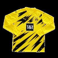 20/21 Borussia Dortmund Home Yellow Long Sleeve Jerseys Shirt