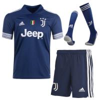 20/21 Juventus Away Navy Soccer Jerseys Whole Kit(Shirt+Short+Socks)
