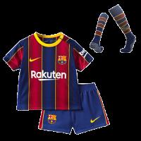 20/21 Barcelona Home Blue&Red Children's Jerseys Whole Kit(Shirt+Short+Socks)