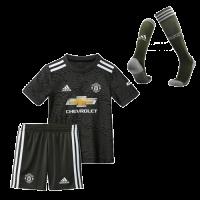 20/21 Manchester United Away Black Children's Jerseys Whole Kit(Shirt+Short+Socks)