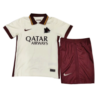 20/21 Roma Away White Children's Jerseys Kit(Shirt+Short)
