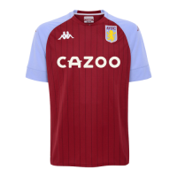 20/21 Aston Villa Home Red&Blue Soccer Jerseys Shirt