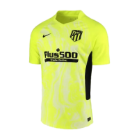 20/21 Atletico Madrid Third Away Yellow Soccer Jerseys Shirt