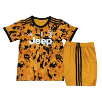 20/21 Juventus Third Away Orange Children's Jerseys Kit(Shirt+Short)