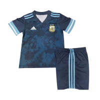 2020 Argentina Away Dark Green Children's Jerseys Kit(Shirt+Short)