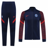 20/21 PSG Navy&Red High Neck Collar Training Kit(Jacket+Trouser)