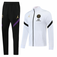 20/21 Jordan PSG White High Neck Collar Training Kit(Jacket+Trouser)