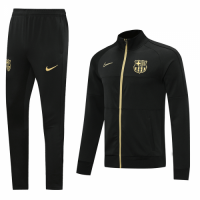 20/21 Barcelona Black High Neck Collar Player Version  Training Kit(Jacket+Trouser)