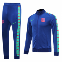 20/21 Barcelona Blue High Neck Collar Training Kit(Jacket+Trouser)