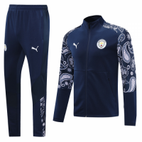 20/21 Manchester City Navy High Neck Collar Training Kit(Jacket+Trouser)