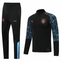 20/21 Manchester City Black High Neck Collar Training Kit(Jacket+Trouser)