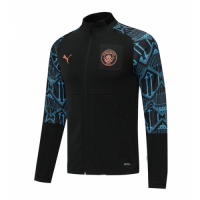 20/21 Manchester City Black High Neck Collar Training Jacket