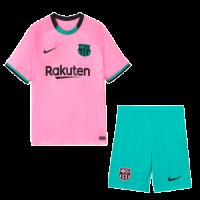 20/21 Barcelona Third Away Pink Soccer Jerseys Kit(Shirt+Short)