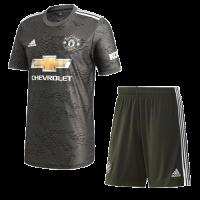 20/21 Manchester United Away Black Jerseys Kit(Shirt+Short)