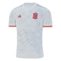 2020 Spain Away White Soccer Jerseys Shirt(Player Version)