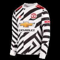 20/21 Manchester United Third Away White Long Sleeve Jerseys Shirt