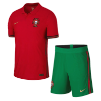 2020 Portugal Home Red Jerseys Kit(Shirt+Short)