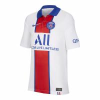 20/21 PSG Away White&Red Soccer Jerseys Shirt