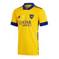 20/21 Boca Juniors Third Away Yellow Soccer Jerseys Shirt
