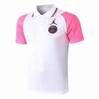 20/21 Jordan PSG Grand Slam Polo Shirt-White&Pink