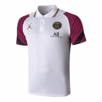 20/21 Jordan PSG Grand Slam Polo Shirt-White&Purple