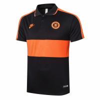 20/21 Chelsea Grand Slam Polo Shirt-Black&Orange