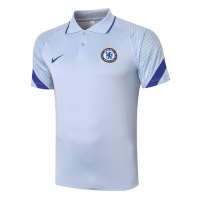 20/21 Chelsea Grand Slam Polo Shirt-Light Gray