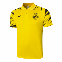 20/21 Borussia Dortmund Grand Slam Polo Shirt-Yellow