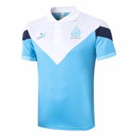20/21 Marseille Grand Slam Polo Shirt-White&Blue