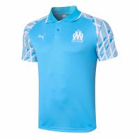 20/21 Marseille Grand Slam Polo Shirt-Blue