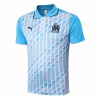 20/21 Marseille Grand Slam Polo Shirt-Light Blue