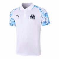 20/21 Marseille Grand Slam Polo Shirt-White&Navy
