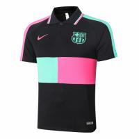 20/21 Barcelona Grand Slam Polo Shirt-Black&Green&Pink