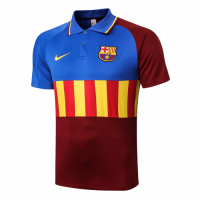20/21 Barcelona Grand Slam Polo Shirt-Blue&Yellow&Red
