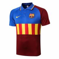 20/21 Barcelona Grand Slam Polo Shirt-Blue&Yellow&Red