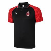 20/21 AC Milan Core Polo Shirt-Red&Black
