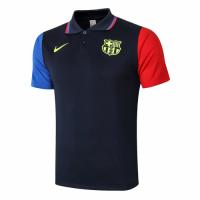 20/21 Barcelona Grand Slam Polo Shirt-Navy&Blue&Red
