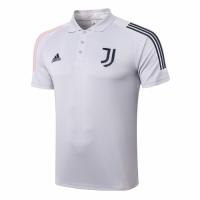 20/21 Juventus Core Polo Shirt-Light Gray