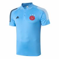 20/21 Ajax Core Polo Shirt-Light Blue