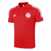 20/21 Ajax Core Polo Shirt-Red