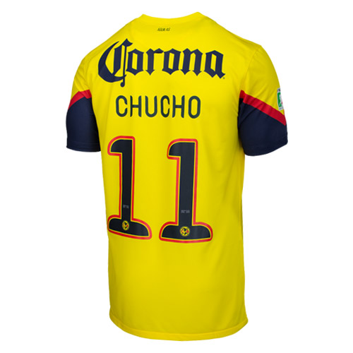 the latest fb9b3 43ef4 12-13 Club America Chucho #11 Home Jersey Shirt