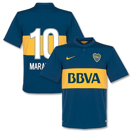 size 40 20705 6a8b5 14-15 Boca Juniors Maradona #10 Home Jersey Shirt