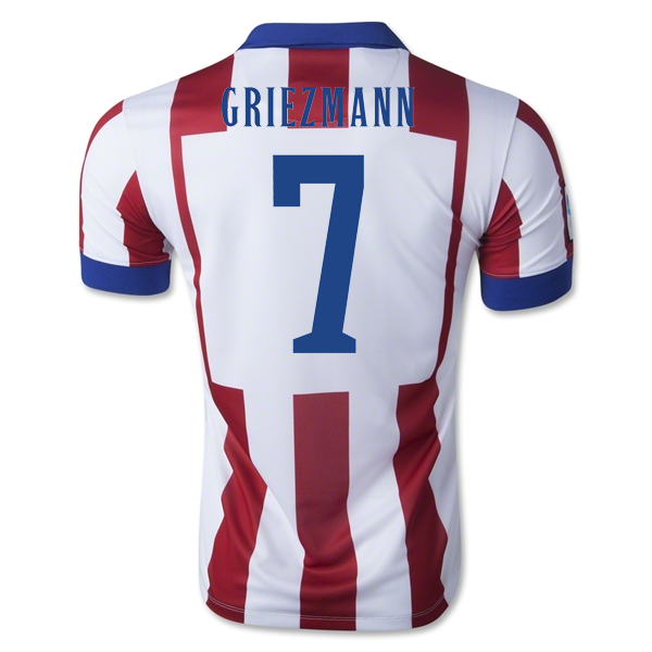 quality design 90cee 5f844 14-15 Atletico Madrid Griezmann #7 Home Soccer Jersey Shirt