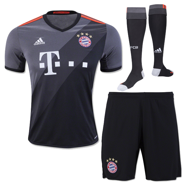 sale retailer a0c10 b7a42 Whole Bayern 16-17 Munich Jersey Black short Kit shirt socks ...