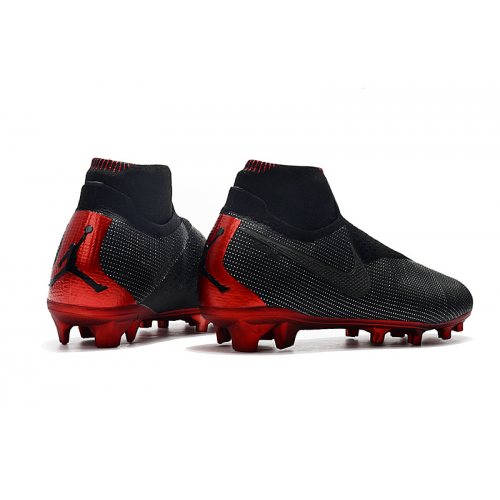 NK Phantom VSN Shadow Elite DF FG Soccer Cleats-Black&Red