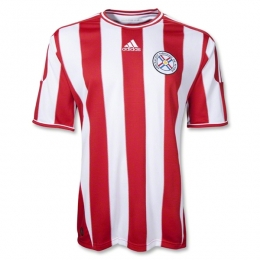 2011 Paraguay Home Red And White Soccer Jersey Shirt Replica