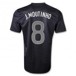2013 Portugal #8 J.MOUTINHO Away Black Thailand Quality Replica Jersey Shirt