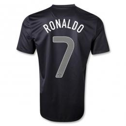 2013 Portugal #7 RONALDO Away Black Thailand Quality Replica Jersey Shirt