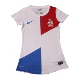 2013 Netherlands Away Women's White Jersey Shirt