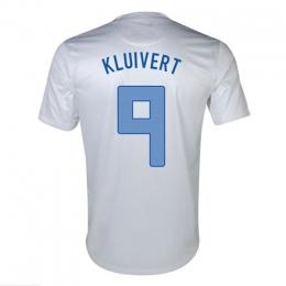 2013 Netherlands #9 Kluivert Away White Jersey Shirt